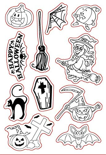 arriettycraft Halloween Hexe Kürbis Stempel DIY Silikon Klar Stempel Blatt Scrapbooking DIY Album Foto -