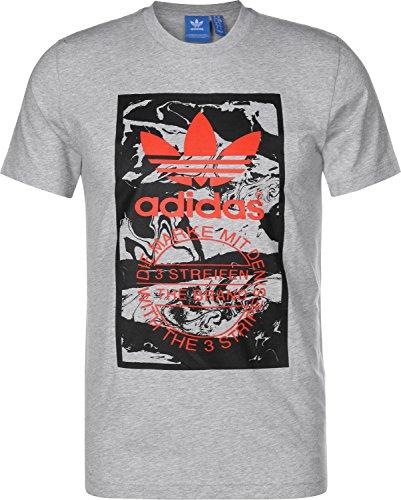 adidas Herren Tongue Label T-Shirt Medium Grey Heather