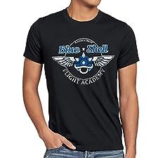style3 Blue Shell - Flight Academy Herren T-Shirt, Größe:XL;Farbe:Schwarz