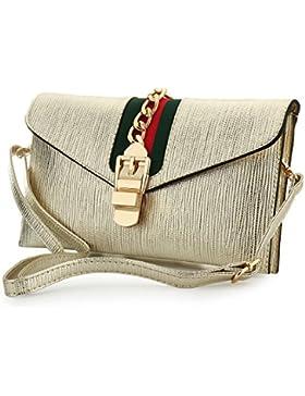 Designer Abend Umschlag Clutch Taschen Wristlet Geldbörse Cross Body Bag mit Kette