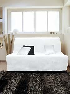 Soleil d'Ocre 110237 Alix Housse BZ Matelassée Anti Tâches Polyester Blanc 200 x 140 cm