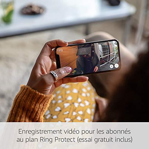 51JppNZsRrL [Bon Plan Ring] Ring Door View Cam   Remplacez votre judas par une nouvelle sonnette vidéo HD 1080p équipée d'un système audio bidirectionnel   Pour portes d'une épaisseur de 34mm à 55mm.