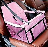 Xueyanwei Car Boot per Cani Pet Carrier Pieghevole Cassa Cane con Mesh Traspirante E Tessuto Impermeabile Doppio Strato 40 * 30 * 25 Centimetri,Pink