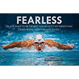 """Motivational Poster - Inspirational Quote - Michael Phelps - FEARLESS - """"If You Want To Be The Best, You Have To Do Things That Other People Aren't Willing To Do"""" - Premium Quality Poster (12 X 17 Inches) For Home & Office Decoration By Tall"""
