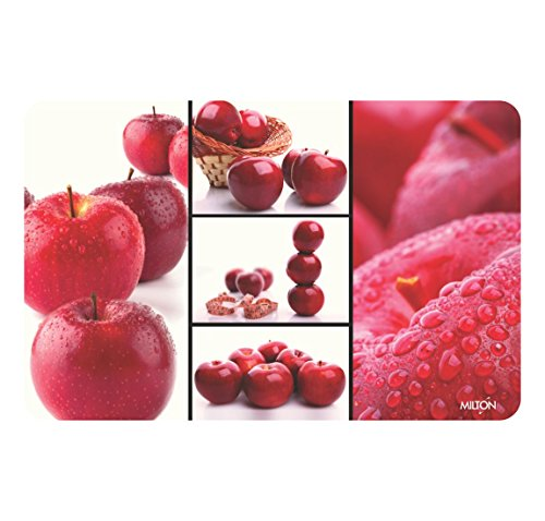 Milton Premium HD Print Dining Table Placemats,Apple - Set of 6