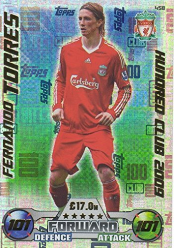 086a8404 Topps Match Attax 2016/2017 Fernando Torres 08/09 Hundred 100 Club Legend 16