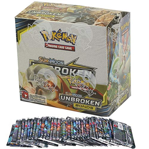 SALPITOYS Pokemon Sun & Moon Unbroken Bonds Booster 36 Packs Box (360 Cards ) (one 4 Pocket Album Free)