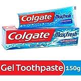 Colgate MaxFresh Anti-cavity Toothpaste, Peppermint Ice, 150gm