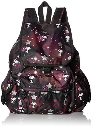 lesportsac-borsa-a-zainetto-donna-multicolore-snoopy-in-the-stars