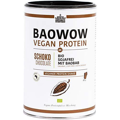Berlin Organics - Baowow Protein Schoko - 100{ce50b1505eedcd1537f1fce8a4e623be2896121f7b66a47d5a3bc6d74b7b59a1} Bio Protein Shake aus veganen Proteinen - Mehrkomponentenprotein
