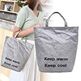 Leobtain Women Grocery Tote Environmental Protecting Paper Reusable Shopping Bags Lightweight Handbag for Travel Shopping and Work