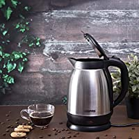 Geepas Double Shell Electric Kettle, Silver, GK5459, 1.5 Litre