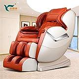 Massage Chair, Full Body Zero Gravity Shiatsu Recliner with Bluetooth, Black (gold)