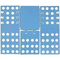 Relaxdays Doblar La Ropa 3ª generación, plegable, 68x 57cm, plegable Tabla para camisetas, camisas, flexible, Flip, Fold, color azul