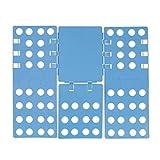 Relaxdays Wäschefalter 3. Generation, klappbar, 68 x 57 cm, Faltbrett für Shirts, Hemden, Flexibel, Flip, Fold, Blau
