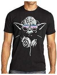 f75e748b4cbcf Men s Short Sleeve Shirt Fashion Shirt Inspired Darth Vader Yoda DJ  Evolution T Shirt