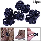 Fansport 12PCS Cord Lock Hole Spring Stopper CordóN Toggle For Shoelace