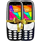 I KALL 2.4 Inch Display Dual Sim Mobile Combo With Feature Of Wireless FM, Bluetooth, GPRS, 1800 Mah Battery Capacity - K35 (Dark Blue & Black)