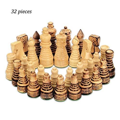 DUOER home Schach Schachfiguren Set Holzschachspiel Standard Schachfiguren für Internationale Wettbewerbe Spielzeug Geschenk Traditionelle Spiele International Fine China