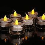 Pack de 6 velas de té LED color ámbar