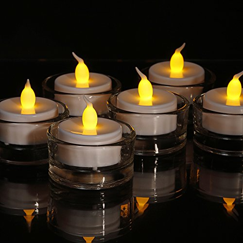 Pack de 6 velas de té LED color ámbar