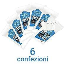 splendiacciaio® Toallitas Húmedas Para La Limpieza y Mantenimiento de superficies de acero, 6 paquetes