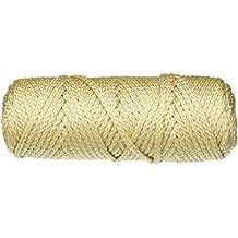 Pepperell - Cuerda de macramé, color perla/beige, 4 mm, 45,7 m, acrílico, multicolor