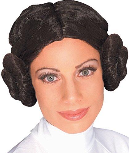 Peluca de Princesa Leia de Star Wars para mujer