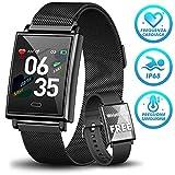 Orologi intelligenti HOFIT Fitness Tracker,Smartwatch Bracciali Activity Tracker Impermeabile IP68,Pressione Sanguigna Cardiofrequenzimetro,Contapassi Orologi Uomo con 2 cinturini