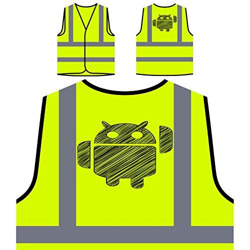 Elektronische Tier-Neuheit-neue lustige Kunst Personalisierte High Visibility Gelbe Sicherheitsjacke Weste c755v