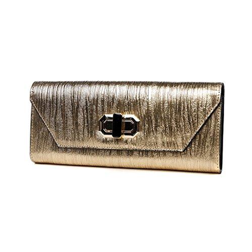 Home Monopoly Ms. Frizione Borsa Borsa Banchetto Dinner Package / con cinghia di spalla ( Colore : Oro ) Oro