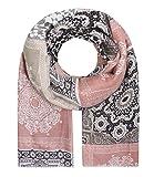 Majea Damen Schal XXL Tuch Neue Herbstkollektion Schals und Tücher mit Muster (rosa 2)