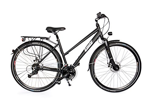 Gregster Aluminium Trekking-Bike Fahrrad StVZO, Schwarz, 28 Zoll, GR-6695