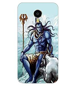 ColourCraft Lord Shiva Design Back Case Cover for MEIZU BLUE CHARM NOTE 3