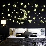 LONZOTH Aufkleber Wandsticker Sticker, Sterne für Sternenhimmel Wandsticker, Fluoreszierend und im Dunkeln leuchtend, ideal für Kinderzimmer und Schlafzimmer (3 Pack)