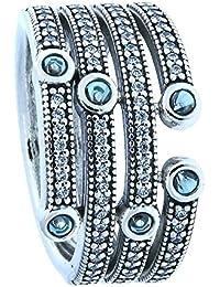 """Pandora Ring """"Schimmernder Ozean""""-56"""