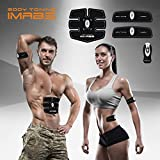 Fitness Training Gear for Men & Women,Wireless & Wearable Abdominal Trainer, Powerful 15 Intensity Level and 6 Multi Exercise Programs Workout for Slender Toner Stomach Muscles; Bonus-Storage Bag and Slimming Waist Trimmer