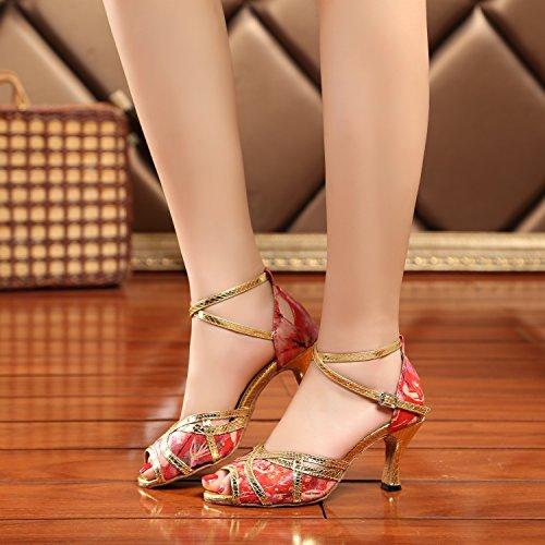 Minitoo , Salle de bal femme Red-7.5cm Heel