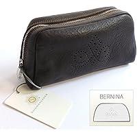 """SONNENLEDER - bolsa de cosméticos de calidad """"BERNINA"""" (con la selección) Color: Café * cuero auténtico *"""