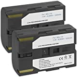 2x Battery SB-L100, SB-L110 for Samsung SC-D20, D21, D24, D27, D31, D34, D55, D60