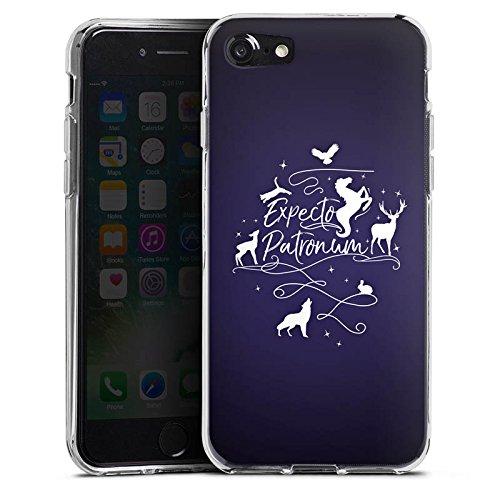 Apple iPhone 8 Hülle Case Handyhülle Expecto Patronum Harry Potter Statement Silikon Case transparent