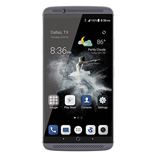 ZTE Axon 7 Smartphone 4G LTE 5.5'' IPS 2K 2560*1440 WQHD Fingerprint Touch ID Android 6.0 OS Snapdragon 820 Quad Core 2.15GHz 4GB RAM 64GB ROM Cellulare Dual SIM GPS WiFi Hifi UHD 3250mAh Carica Veloce Pieno Metallo Arc Edge Grigio