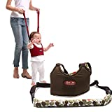 Baby Auffanggurt Lauflernhilfe Sicherheitsgurt Safety Walker Reins Baby Harness Walking Assistant Schutzgurt Verstellbar (Braun)