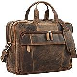STILORD 'Jaron' Vintage Ledertasche Leder Herren Damen 15,6 Zoll Laptoptasche Umhängetasche groß...