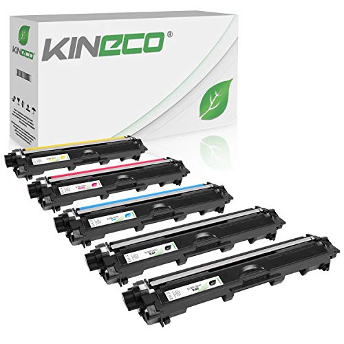 Kineco 5 Toner kompatibel für Brother TN-241 TN-245 für Brother DCP-9022CDW MFC-9142CDN 9342CDW 9332CDW HL-3150CDW - TN-241BK TN-245C TN-245M TN-245Y - Schwarz je 2.500 Seiten, Color je 2.200 Seiten - 1 X Magenta-paket