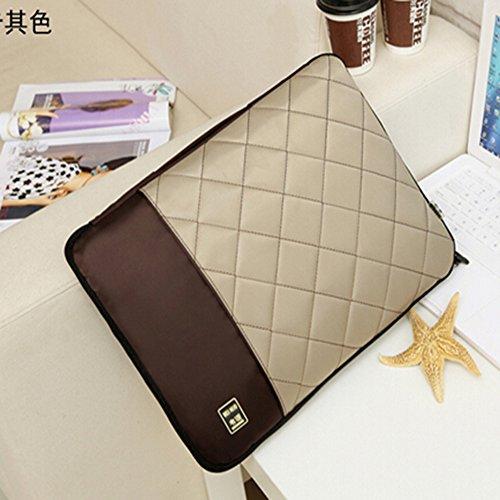spritech (TM) Computer Travel mit Aufbewahrung Tasche Cover mit Reißverschluss und tragbar Gürtel, khaki, 35,6 cm