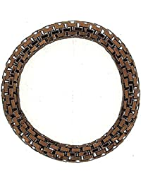 The Olivia Collection Chocolate Brown Maximum Metal 8mm Elasticated Bracelet