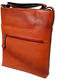 Stylish Genuine Leather Small Messenger Office Bag Cash Side Sling Bag By Widnes - B01KGE12A6