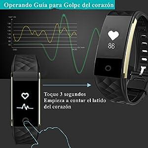 Pulsera Actividad de Willful, IP 67 Pulsera Impermeable con Pulsometros Función, Podómetro, Monitor de Calorías,Monitor de Dormir,Notificación de mensajes como whatsapp/Facebook, Modo Deportivo Multi Fitness Tracker para Android y IOS Teléfono móvil(para Huawei,Samsung,iPhone etc.)