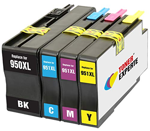 TONER EXPERTE® 4 XL Druckerpatronen Ersatz für HP 950 950XL 951 951XL kompatibel für HP Officejet Pro 8100 8600 8610 8615 8616 8620 8625 8630 8640 8660 251dw 276dw | hohe Kapazität (Hp 950xl Tinte)